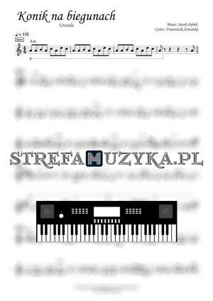 Konik na biegunach - Urszula nuty na keyboard pianino