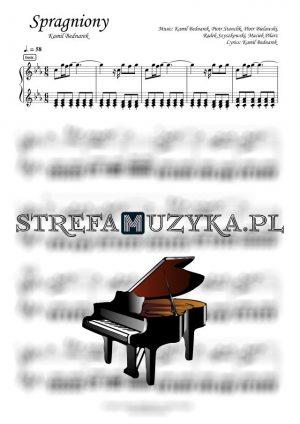 Spragniony - Kamil Bednarek nuty na pianino, forrtepian